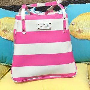 Kate Spade striped Tote / shoulder bag